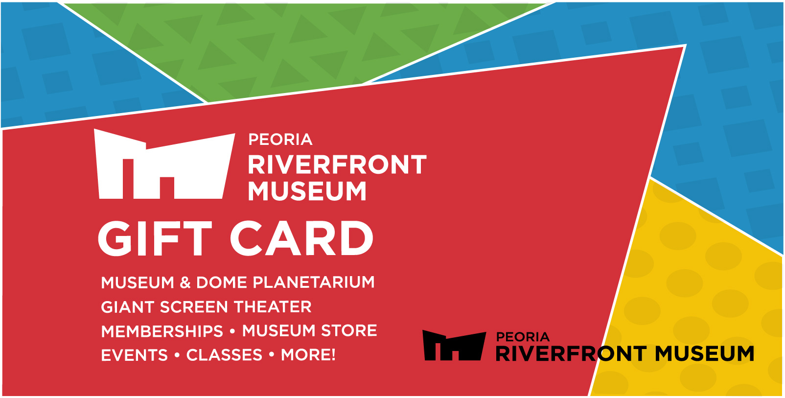 Plan your visit museum gift cards peoria riverfront museum museum gift cards 1betcityfo Gallery
