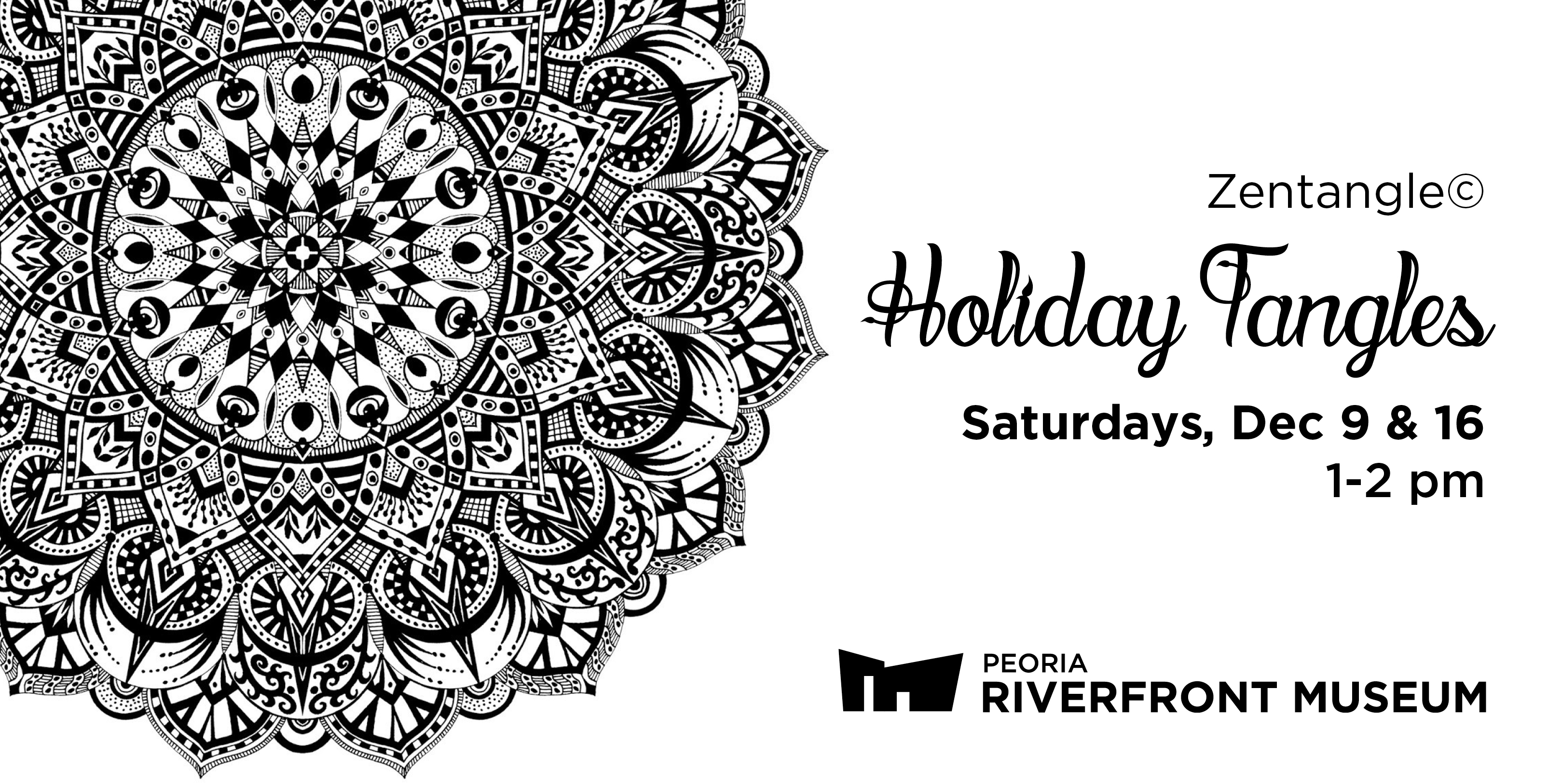 Zentangle Holiday Tangle  Webbanner